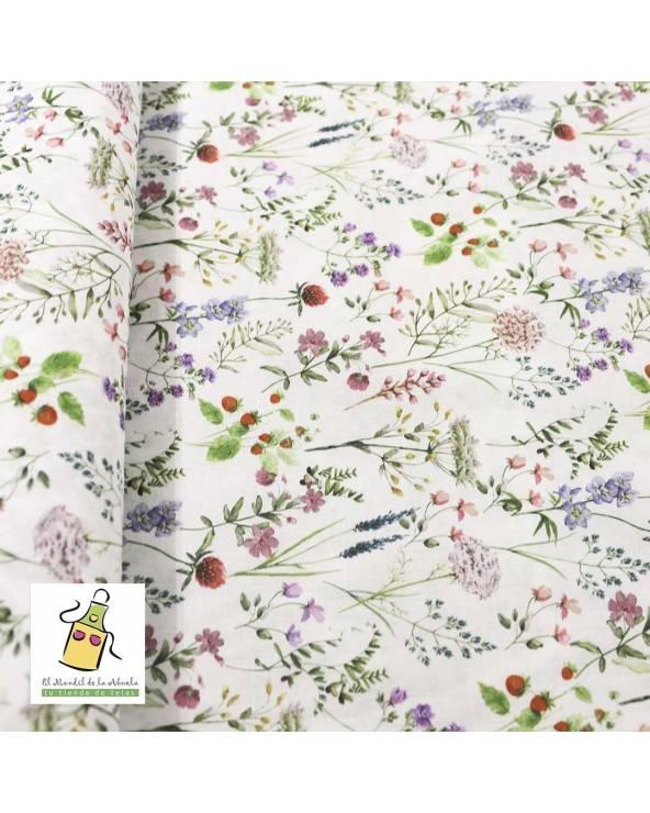 Algodón Flores Primavera